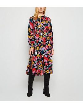 Influence Multicoloured Floral Midi Dress by New Look