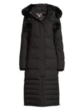 Saskatchewan Fur Trim Hooded Quilted Parka by Moose Knuckles