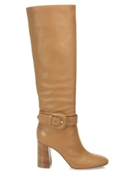 Buckle Tall Leather Boots by Gianvito Rossi