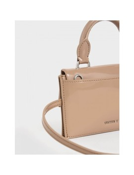 Single Chain Handle Push Lock Bag  Patent Belt Bag by Charles & Keith