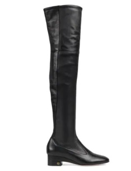 Claus Tall Leather Boots by Gucci
