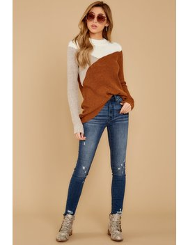 Now And Then Copper Multi Sweater by Staccato
