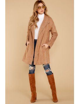 All This Way Camel Coat by Promesa