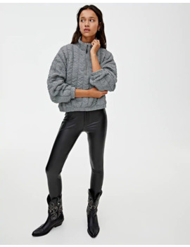 Quilted Sweatshirt With Zip by Pull & Bear