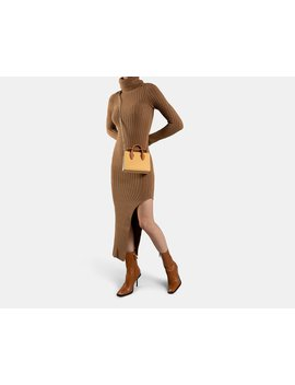 The Strathberry Nano Tote   Caramel/Tan/Vanilla by Strathberry
