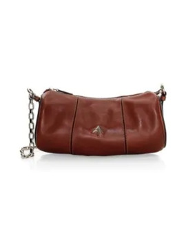 Leather Cylinder Shoulder Bag by Manu Atelier