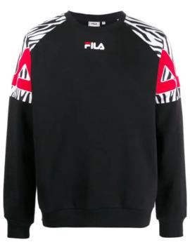 Sweatshirt Mit Gemusterten Schultern by Fila