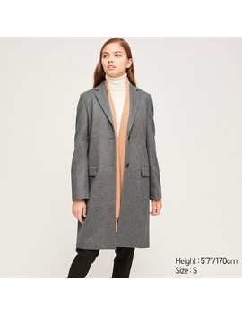 Manteau Chesterfield En Cachemire MÉlangÉ Femme by Uniqlo