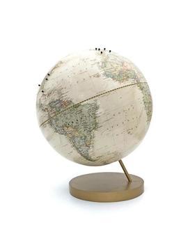 Push Pin Globe Ivory, World Globe With Push Pins by Etsy