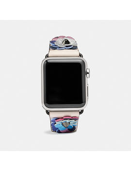 Apple Watch® Strap With Leather Sequins by Coach