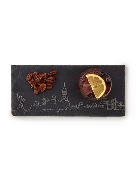 City Skyline Slate Cheese Board by Uncommon Goods