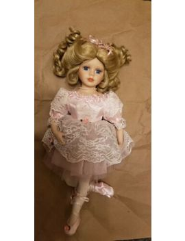 """Collections Etc Collectible Ballerina Porcelain Doll 17"""" Tall by Collections Etc"""