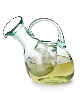 Tilted Wine Decanter With Ice Pocket by Uncommon Goods