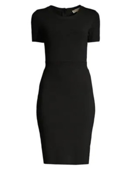 Rib Waist Sheath Dress by Michael Michael Kors