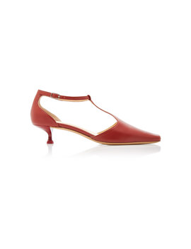 Bella Leather Mary Jane Pumps by By Far
