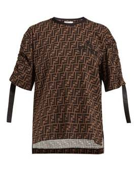 Ff Logo Printed Jersey T Shirt by Fendi
