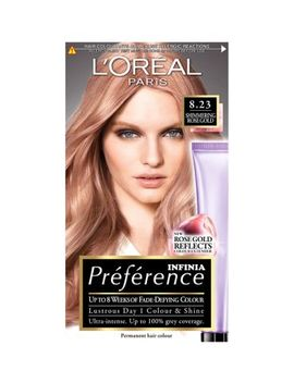 L'oreal Preference Infinia 8.23 Rose Gold Light Blonde Permanent Hair Dye by L'oreal