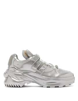 Retro Fit Metallic Trainers by Maison Margiela