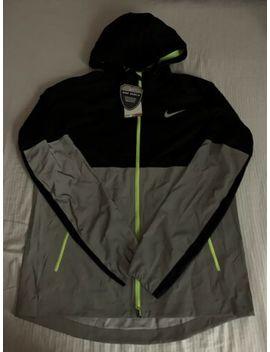 Nike Shield Flash Reflective 3 M Windrunner Black Silver Jacket Mens 619424 010 L by Nike