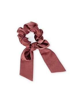 Oversized Red Bow Scrunchie Hair Elastic by Olivar Bonas