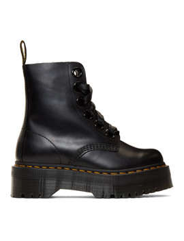 Bottes Noires Ribbon Molly by Dr. Martens