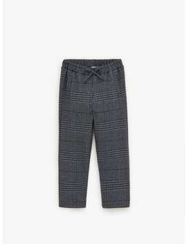 Twin Set Houndstooth Trousers by Zara