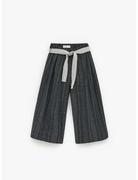 Striped Culotte Trousers by Zara