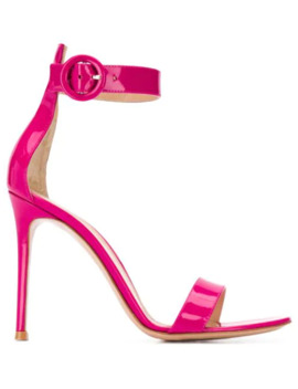 Patent Sandals by Gianvito Rossi