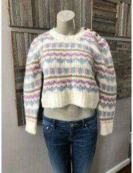 Loveshackfancy Pastel Fair Isle Sweater Ivory Size Medium New With Tags by Ebay Seller