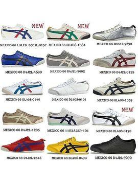Scarpe Asics Onitsuka Tiger Mexico 66 Sneaker 100% Pelle Thl408 Messico Vintage by Ebay Seller
