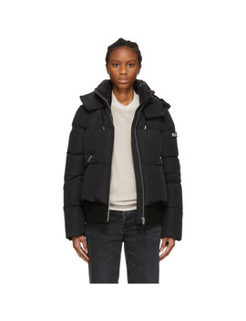 Black Down Aubrie Jacket by Mackage
