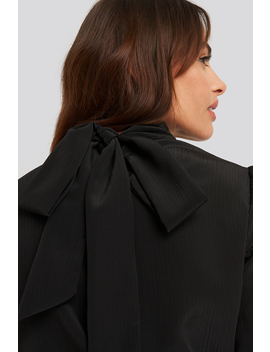 Structured Tie Back Blouse Black by Nakdclassic