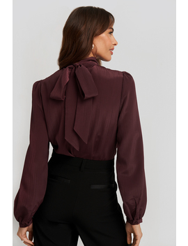 Structured Tie Back Blouse Red by Nakdclassic