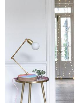 Olivia Rubin X Etsy Brass Table Lamp, With Plywood Base, And Brass Joints by Etsy