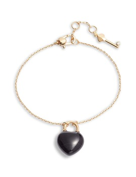 Open Heart Stone Lock Bracelet by Kate Spade New York
