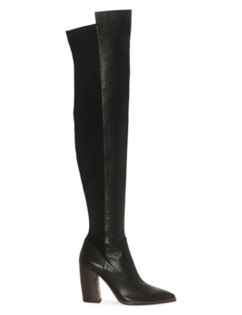 Over The Knee Snakeskin Print Boots by Vince Camuto