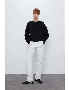 Sweatshirt With Seam Details Sweatshirtswoman by Zara