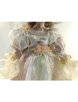 Cathay Collection Victorian Style Porcelain Doll Pink Dress With Basket Ds1338 by Ebay Seller