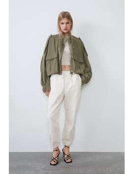 Voluminous Rustic Jacket Jackets by Zara
