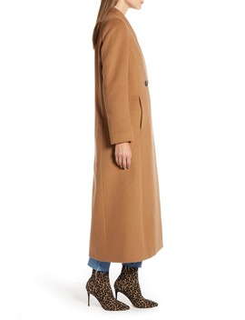 Double Breasted Maxi Coat by Something Navy