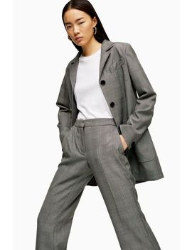 **Wool Check Grey Suit By Topshop Boutique by Topshop