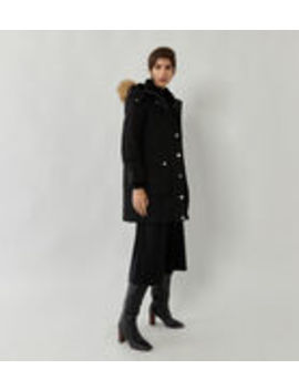 Long Padded Parka Coat by Warehouse