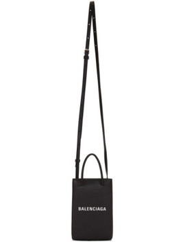 Black Shopping Phone Holder Bag by Balenciaga