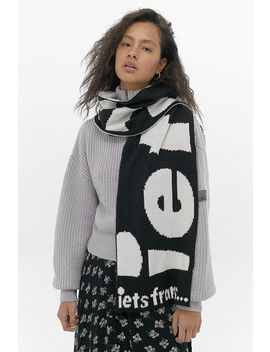 Iets Frans... Monochrome Slogan Scarf by Iets Frans...