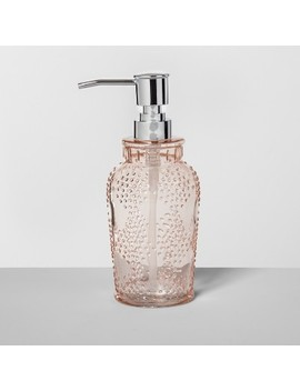 Glass Soap/Lotion Dispenser Blush   Opalhouse™ by Shop Collections