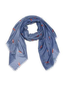 All Over Fox Oblong Scarf by G.H.Bass & Co.