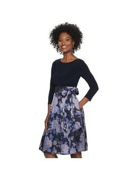 Women's Elle™ Three Quarter Sleeve Volume Dress by Elle
