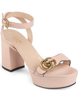 Marmont Gg Platform Sandal by Gucci