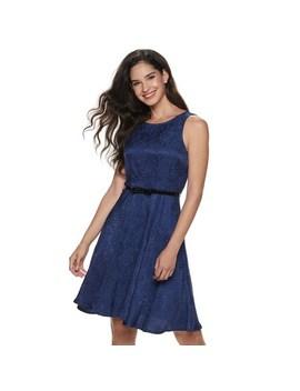 Women's Elle™ Pleat Neck Fit &Amp; Flare Dress by Elle