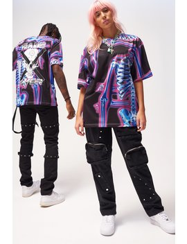Parallel Skeleton X Ray Print T Shirt by Jaded London